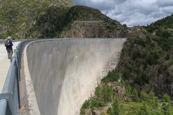 High dam built into mountain