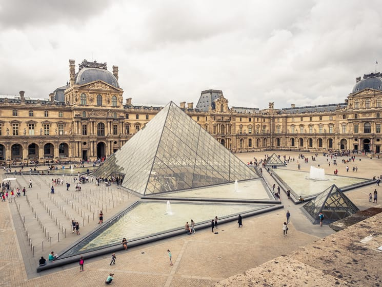 The Louvre and its Pyramid, Paris